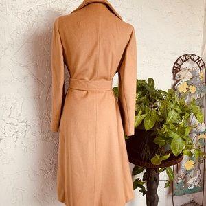 VINTAGE 70s Camel Wrap Wool Coat JOSHAR Montreal